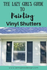 Learn how to paint shutters to instantly update the look of your home! It's possible to transform your dated shutters in just a few hours! Practically instant c