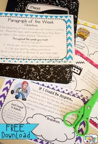 FREE Paragraph of the Week: Writing Prompt activities } Narrative, Opinion, Informational. FREE