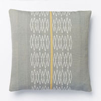 Woven Zigzag Stripe Cushion Cover - Feather Grey