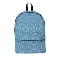Maria Pink and Blue Classic Large Backpack $58.00