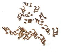 Pack of 50 Silver Colour Musical Note Charms. Eighth Notes Music Pendants. 13mm x 8mm £6.99