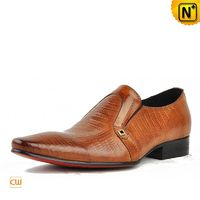 Cwmalls Mens Embossed Leather Dress Loafers CW750056