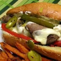 "Philly Cheesesteak Sandwich with Garlic Mayo | ""This is the best Philly sandwich ever!!! The whole family loves it!! Thanks for the awesome recipe."""