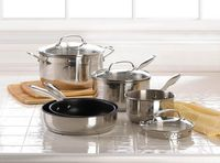 8 Pc. Stainless Steel Cookware Set $149.95