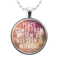 Buddha Quote Necklace, Yoga Jewelry, Motivational Quote Pendant $15.00