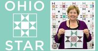 Click here to get supplies: http://bit.ly/ohiostar . Jenny demonstrates how to make the classic Ohio Star block pattern using yardage and charm packs (5 inch...