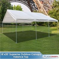 Supreme Canopy with Valance Top - 18x20 Super Sale