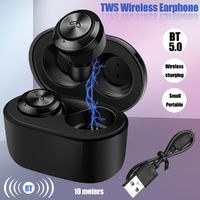 Bluetooth 5.0] Mini TWS True Wireless In-Ear Stereo Earphone Portable IPX7 Waterproof Sport Earbuds Headset with Mic