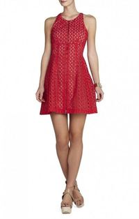 $175.00 BCBG GUILIANNA TULIP DRESS RED