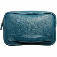 Grained Leather Dopp Kit Teal $172.00