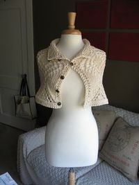 Convertible Victorian Lace Cape by The Knit Knot