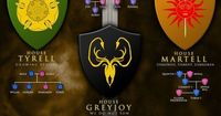 Game of Thrones: The Major Houses and Their Members - 8 Bit Nerds shares the best funny pics, video games, sci-fi, fantasy, comic, and cosplay pics on the web!