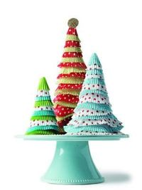How to make a paper tree out of cupcake papers