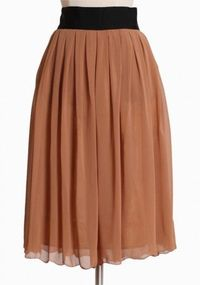 Four Seasons Pleated Skirt In Camel from Ruche - $38.99 but it's out of stock :(