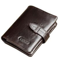 HOT genuine leather Men Wallets Brand High Quality Designer wallets with coin pocket purses $44.54
