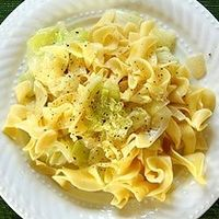Haluski (Cabbage and Noodles) a Polish dish of cabbage and noodles that is quite popular in Pittsburgh