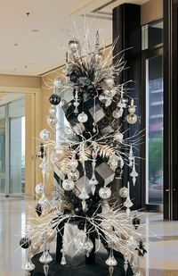 Melrose Uptown Chic Tree 2012. Note the use of silver boxes for the tree!!