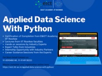E&ICT Academy, IIT Roorkee presents an Online Certification Program on Applied Data Science with Python Hello, Greetings of the day! E&ICT Academy, IIT Roorkee presents an Online Certification Program on Applied Data Science with Python in colla...