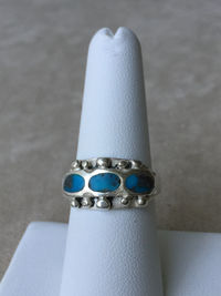 Sterling Silver Turquoise Ring US size 7.25 $32.50