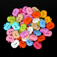 Pack of 50 Assorted Colours Acrylic Apple Buttons. Children's Plastic Coat Fasteners. 12mm x 14mm. £8.69
