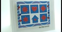 handmade quilt card from stamping up north with laurie ... red, white and blue ... luv the crisp lines from die cuts ... My Favorite Things