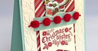 Home for Christmas Santa card using the Cozy Christmas Stamp Set from the Stampin' Up! 2015 Holiday mini catalog. Painted Orange