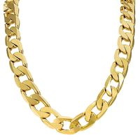 The Bling King 18K Gold or Silver Plated 13mm Cuban Chain Necklace / Bracelet £89.90