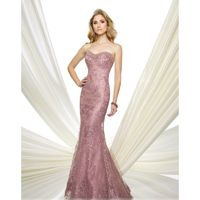 Montage by Mon Cheri - 216961 Strapless Floral Trumpet Gown - Designer Party Dress & Formal Gown