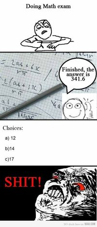 Doing math exam