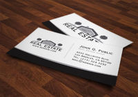 Elegant Black and White Real Estate Business Cards Template by J32 Design
