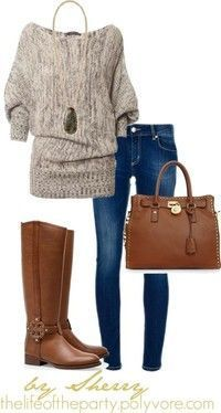 Fall Outfit cute sweater - minus those particular boots I'm just not a fan of those lol