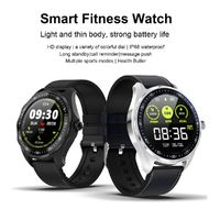 Ordro S09 1.3 inch IPS Display bluetooth 4.0 Heart Rate Blood Pressure Health Tracker IP68 Waterproof PU Leather Strap Smart Watch