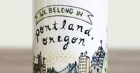 Pay what you want for We Belong In Portland Mug. 5% benefits charity. buy local buylocal portland white elephant