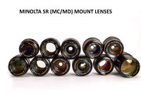 Vast Collection of Various Minolta SR (MC/MD) Lenses in Excellent++ Condition! Great Affordable Addition to Your Photo and Video Arsenal! $75.00