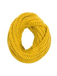 Mustard yellow tube scarf