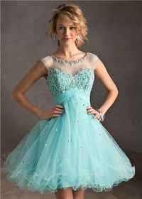Lace Beaded Short Prom Homecoming Dresses 2014