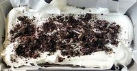 Easy Ice Cream Sandwich Cake | by Life Tastes Good is a chocolate and whipped cream dessert that only takes about 10 minutes to assemble! It is the easiest cake