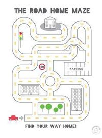 "simple mazes I'm wondering if I made a map of our most frequented places (home, school, library, Walgreens, etc) if my son could show me the path on a homemade map. He's always telling me ""turn right"" or ""turn left"" if we d..."