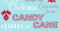 Winter Christmas Holiday fonts.