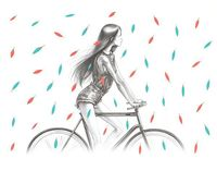 Сycling. by Lena Leonovich, via Behance