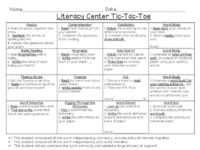 Primary Punch: Literacy Centers