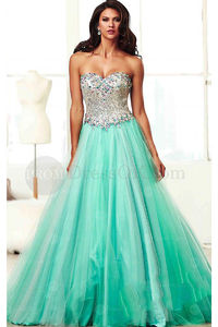 Classy Long Sleeveless Lace-up Sweetheart Floor-length Prom Dresses