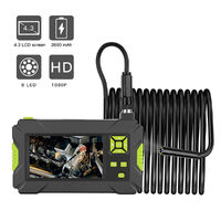 LCD 1080P Handheld Digital Inspection Camera Borescope Video Recording 2M Tube