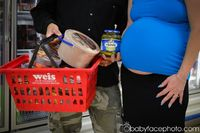 maternity photography grocery store