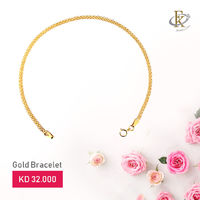 Add a touch of luxury to your beauty with a simple gold bracelet.