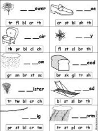 Free 1st grade consonant blends worksheets
