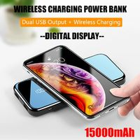 Bakeey Digital Display 15000mAh Dual USB Output Trickle Protection Wireless Charging Power Bank for iPhone 11 Pro Max for Samsung S10 HUAWEI Xiaomi Redmi