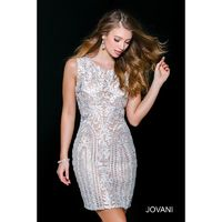 Jovani 46035 Beaded Embroidered Short Dress - Brand Prom Dresses|Beaded Evening Dresses|Charming Party Dresses