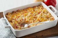 Hash Brown Potato Casserole-This is a delicious and easy recipe for a chessy potato side dish. It's also a healthy, low calorie, low far, low cholesterol, low carbohydrate, low sodium, Vegetarian, Diabetic and a Weight Watchers (2) PointsPlu...