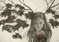 Alessia Iannetti's chosen medium of graphite, watercolor and ink on wood is fascinating and befuddling. Her ability to capture nuance of detail an...